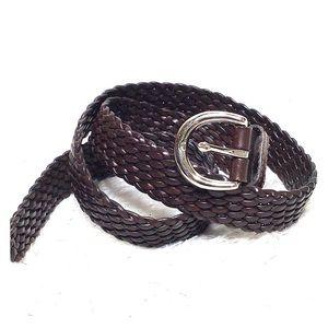 COACH braided belt brown S